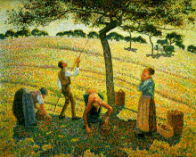 "Копия картины ""apple picking at eragny-sur-epte"" художника ""писсарро камиль"""