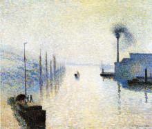 """Репродукция картины """"Ile Lacruix, Rouen. Effect of Fog."""" художника """"Писсарро Камиль"""""""