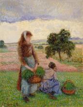 """Копия картины """"Peasant Woman Carrying a Basket"""" художника """"Писсарро Камиль"""""""