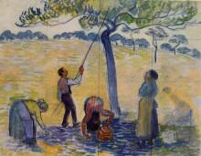 "Копия картины ""picking apples"" художника ""писсарро камиль"""