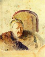 """Репродукция картины """"Portrait of the Artist's Mother"""" художника """"Писсарро Камиль"""""""