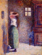 """Копия картины """"Young Peasant at Her Toilette"""" художника """"Писсарро Камиль"""""""