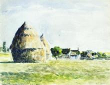 "Копия картины ""haystacks"" художника ""писсарро камиль"""