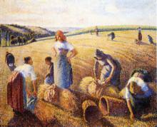 """Картина """"the gleaners"""" художника """"писсарро камиль"""""""