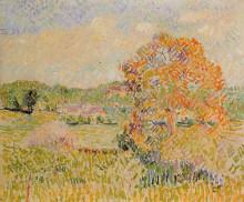 """Репродукция картины """"Springtime at Eragny (study)"""" художника """"Писсарро Камиль"""""""