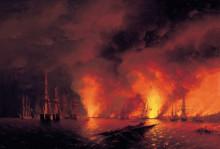 """Картина """" Оригинальное название: Синопский бой 18 ноября 1853 года (ночь после боя)"""" художника """"Айвазовский Иван"""""""