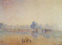 "Копия картины ""The Serpentine, Hyde Park, Fog Effect"" художника ""Писсарро Камиль"""