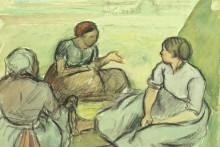 "Репродукция картины ""Three Peasant Women"" художника ""Писсарро Камиль"""