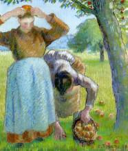 """Репродукция картины """"apple gatherers"""" художника """"писсарро камиль"""""""