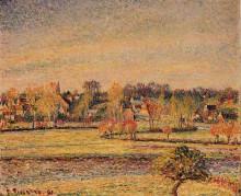 """Картина """"frost, view fom bazincourt"""" художника """"писсарро камиль"""""""