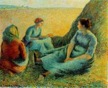 """Репродукция картины """"haymakers resting"""" художника """"писсарро камиль"""""""