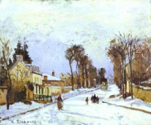 """Картина """"The Versailles Road at Louveciennes"""" художника """"Писсарро Камиль"""""""