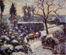 """Картина """"The Effect of Snow at Montfoucault"""" художника """"Писсарро Камиль"""""""