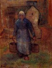 """Картина """"woman with buckets"""" художника """"писсарро камиль"""""""
