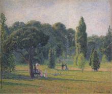 """Репродукция картины """"Gardens At Kew, Sunset"""" художника """"Писсарро Камиль"""""""