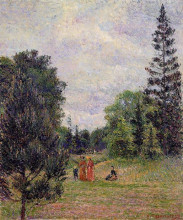 """Картина """"Kew Gardens, Crossroads near the Pond"""" художника """"Писсарро Камиль"""""""