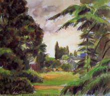 """Копия картины """"kew gardens, the little greenhouse"""" художника """"писсарро камиль"""""""