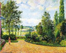 "Репродукция картины ""mirbeau's garden, the terrace"" художника ""писсарро камиль"""