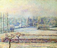 """Картина """"View of Bazincourt, Frost, Morning"""" художника """"Писсарро Камиль"""""""