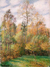 "Картина ""autumn, poplars"" художника ""писсарро камиль"""