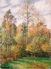 """Картина """"Autumn, Poplars"""" художника """"Писсарро Камиль"""""""