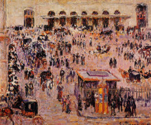 "Копия картины ""cour du havre (gare st. lazare)"" художника ""писсарро камиль"""