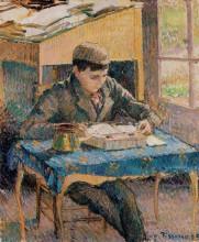 """Репродукция картины """"portrait of rodo reading"""" художника """"писсарро камиль"""""""
