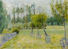 """Репродукция картины """"study of apple trees at eragny"""" художника """"писсарро камиль"""""""