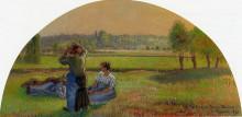 """Картина """"The Siesin the Fields"""" художника """"Писсарро Камиль"""""""