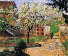 "Картина ""flowering plum tree, eragny"" художника ""писсарро камиль"""