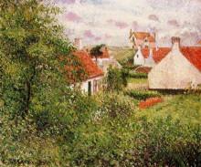 """Картина """"houses at knocke, belgium"""" художника """"писсарро камиль"""""""