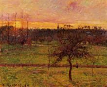"""Копия картины """"Landscape at Eragny"""" художника """"Писсарро Камиль"""""""