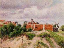 """Картина """"the village of knocke, belgium"""" художника """"писсарро камиль"""""""