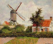 "Копия картины ""windmill at knokke, belgium"" художника ""писсарро камиль"""