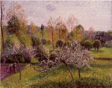 "Картина ""flowering apple trees, eragny"" художника ""писсарро камиль"""