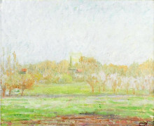 "Картина ""Fog in Eragny"" художника ""Писсарро Камиль"""