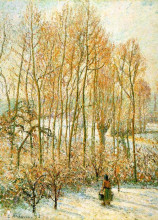"Копия картины ""Morning Sunlighton the Snow, Eragny-sur-Epte"" художника ""Писсарро Камиль"""