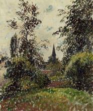 """Картина """"the bazincourt steeple (study)"""" художника """"писсарро камиль"""""""