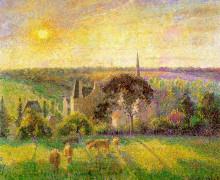 """Копия картины """"The Church and Farm of Eragny"""" художника """"Писсарро Камиль"""""""