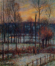 "Картина ""the effect of snow, sunset, eragny"" художника ""писсарро камиль"""