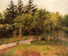 """Копия картины """"the garden at eragny"""" художника """"писсарро камиль"""""""