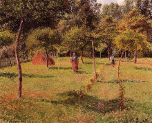 """Репродукция картины """"Enclosed Field at Eragny"""" художника """"Писсарро Камиль"""""""