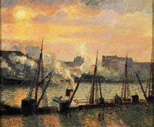 "Копия картины ""Quay in Rouen Sunset"" художника ""Писсарро Камиль"""