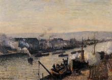 "Картина ""Saint-Sever Port, Rouen"" художника ""Писсарро Камиль"""