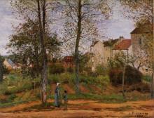 """Репродукция картины """"Landscape near Louveciennes 2"""" художника """"Писсарро Камиль"""""""