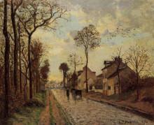 """Репродукция картины """"The Louveciennes Road"""" художника """"Писсарро Камиль"""""""
