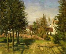 "Картина ""the pine trees of louveciennes"" художника ""писсарро камиль"""