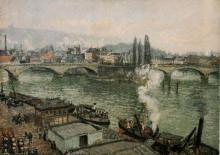 "Копия картины ""the pont corneille, rouen, grey weather"" художника ""писсарро камиль"""