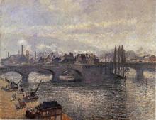 """Картина """"the pont corneille, rouen, morning effect"""" художника """"писсарро камиль"""""""