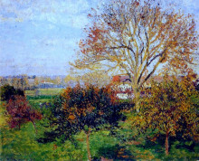 "Картина ""autumn morning at eragny"" художника ""писсарро камиль"""